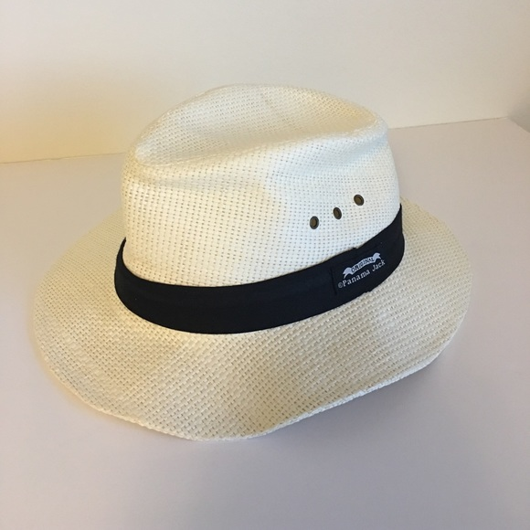 Panama Jack Two Pleat Straw Safari Fedora Hat d1e3067799d